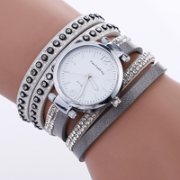 2984 Fashion Full Rhinestone Silver Watches For Women Fashion Bracelet Ladies Leather Casual watches women branded new 2017