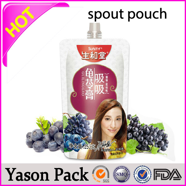 YASON best selling coach bags pouch with spout child proof plastic bag
