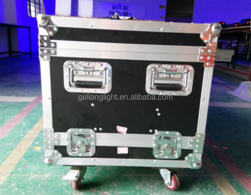 High quality aluminum moving head flycase with wheels