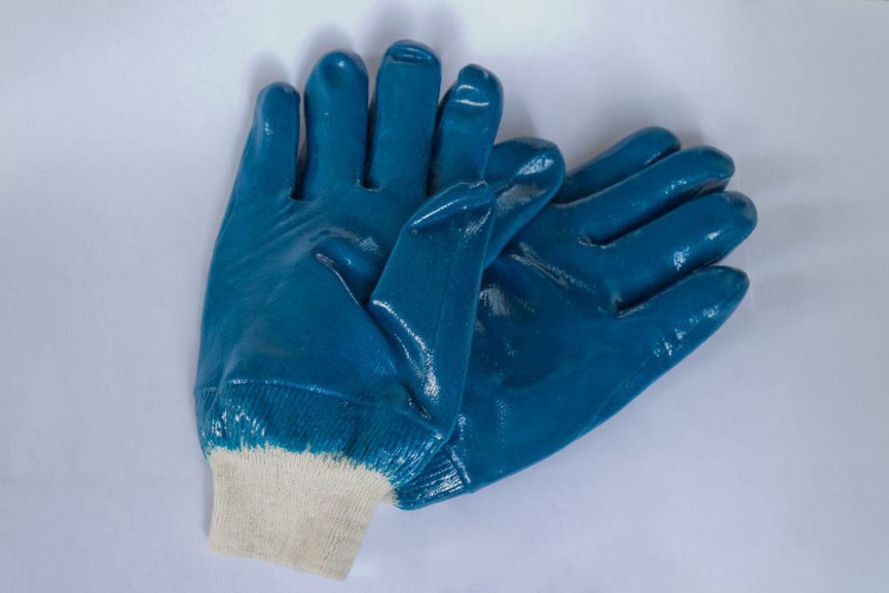 Brand MHR open back anti sweat nitrile hard working gloves EN388 4111