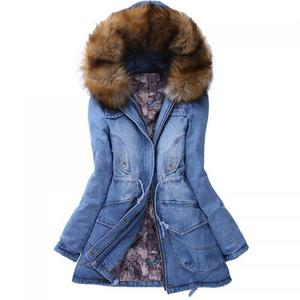 Cotton detachable sleeves detachable fur collar Women Parkas thicken casacas mujer 243448