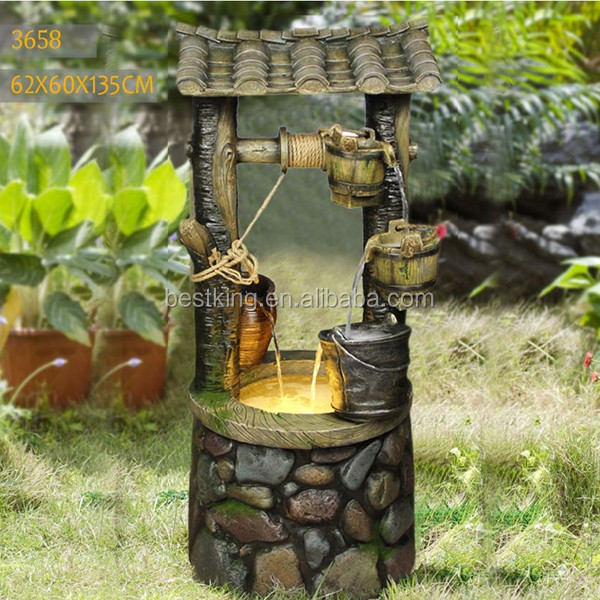 Garden items for sale big well fountain
