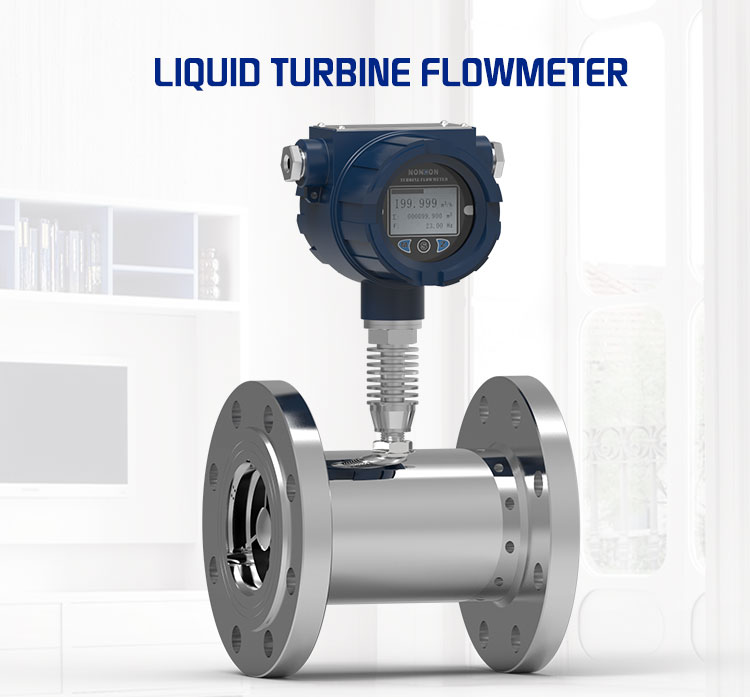 High Temperature Liquid Turbine Flowmeter With Surface DN50 digital liquid flow meter