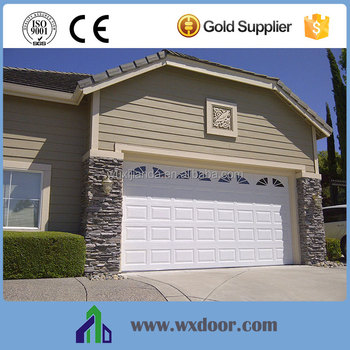 Remote control sectional overhead garage door with low for Garage low cost