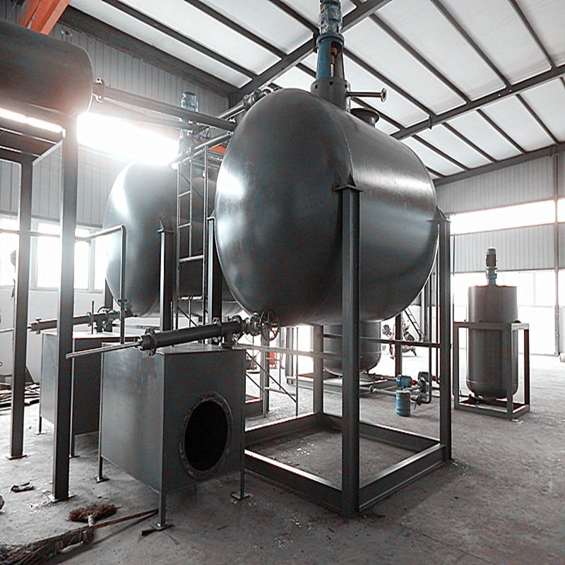 Yellow Fuel Oil from Waste Engine Motor Oil by Distillation Diesel Machine