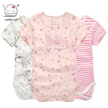 Moms Care Cartoon Cotton Baby Rompers Summer Short Sleeve Baby Wear Infant Jumpsuit Boys Girls Clothes Roupas De Bebe Infantil