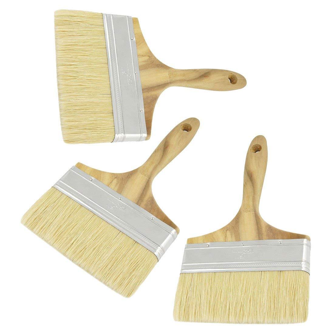"Axiwen 5"" Wide Bristle Hair Wooden Handle Paint Brush Wall Painting Tool"