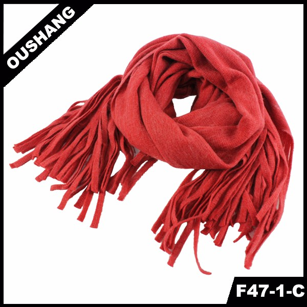 F47-1-C Pure Color Scarves Long Style Scarf Wraps