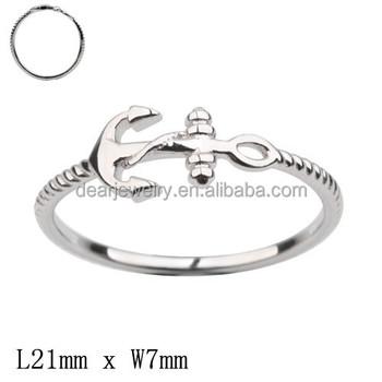 Hochwertige 925 Sterling Silber Anker Verlobungsring Fur Manner