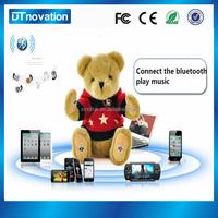 Custom battery operated bluetooth speaker plush toy