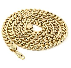 "2018 Yiwu Factory Mens 18K Gold plated 36"" Inches Cuban Curb Link Chain Necklace 10mm"