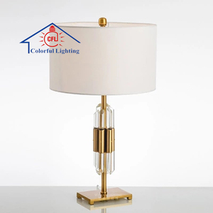 2018 New American Style Crystal Decorative Lamp Of Bronze Home Bedroom Night Desk Lamp CFL6042