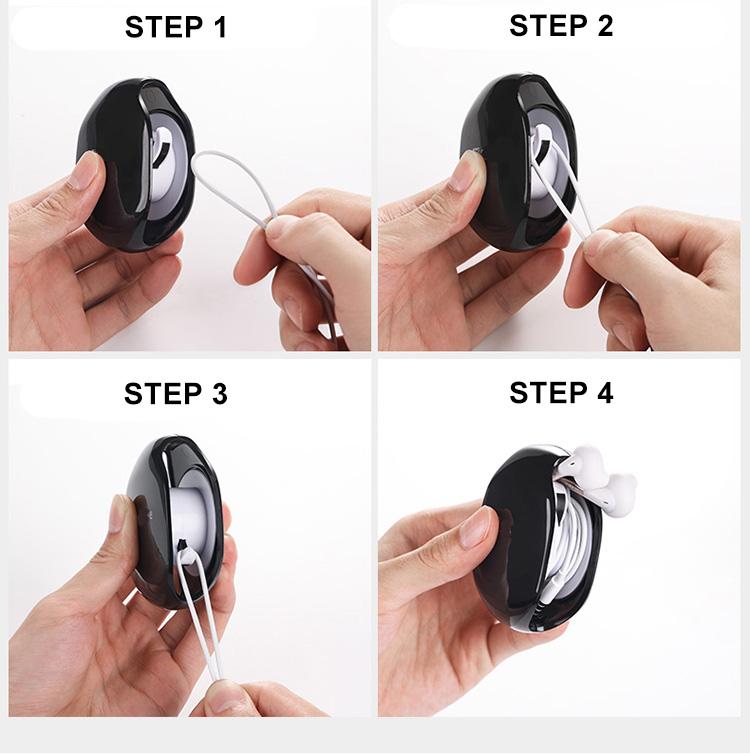 AUTOMATIC cord organizer mini earphone cable winder