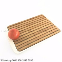 Great Brand Bamboo Fiber Chopping Board Eco-friendly Bread bamboo cutting board With Base