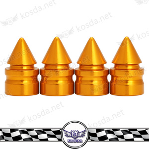 automobile 23mm gold spiked universal aluminum wheel tire valve stems caps