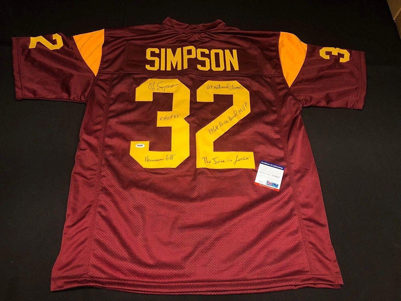 a4a647da0fb O.J. OJ Simpson Signed USC Trojans Jersey