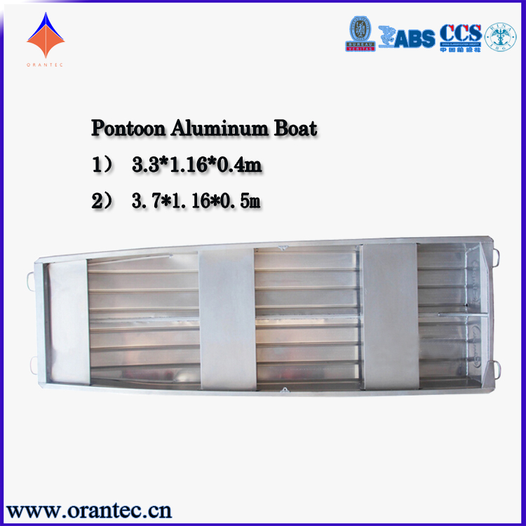 High Quality CE Certification Aluminium Fishing Boat Hulls for Pontoon Boat in Fishing Vessel