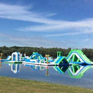 UK Oxford New Inflatable Floating Waterpark Equipment / Inflatable Floating Obstacle / Outdoor Water Sports Park