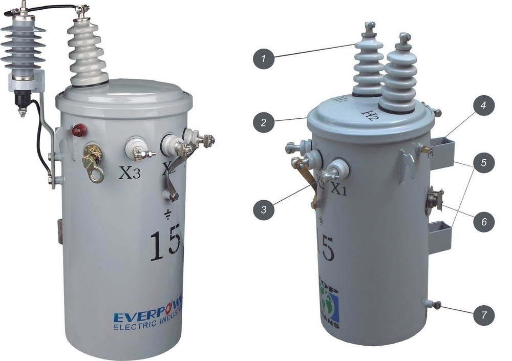 Single Phase Pole-mounted Transformer Csp Type