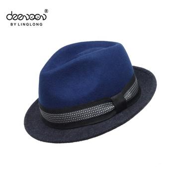 6f52f8adda21a Fedora Aba larga Chapéu de Feltro de Lã de Inverno Das Mulheres Dos Homens Chapéu  Fedora