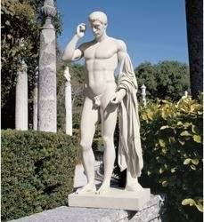 "37"" Grand Kleomenes Male Nude Roman Greek Statue Home Garden Sculpture Statue"
