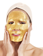 Wholesale cosmetic collagen golden powder crystal facial mask