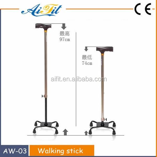 Folding Elderly Walking Stick Secure Comfortable Grip