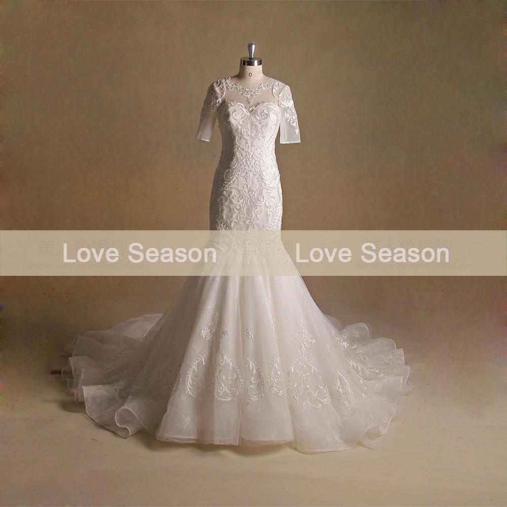 Fishtail Wedding Dress With Ruffles : Wholesale mry alibaba organza ruffle skirt wedding