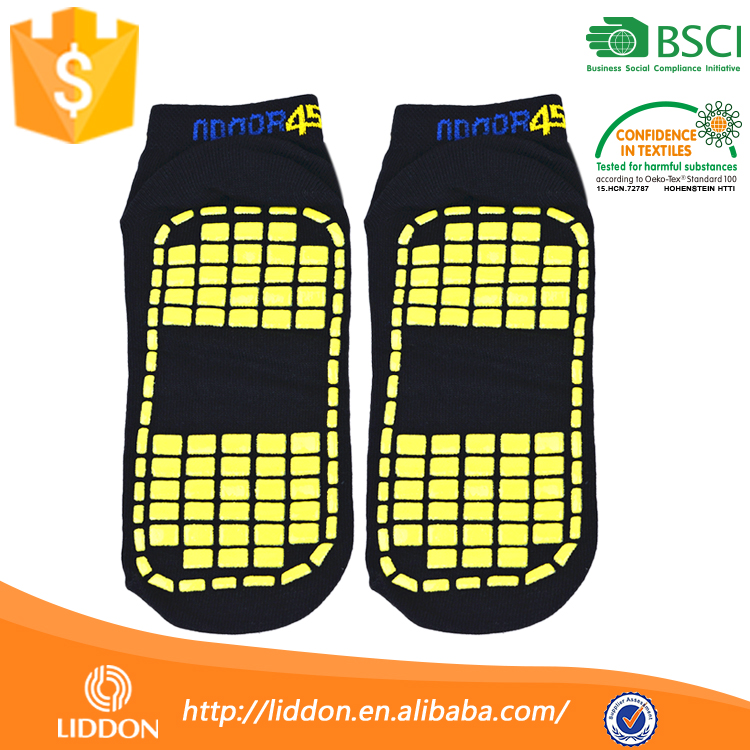 Wholesale Non Slip Vivid Color Elite Sock With Grip,Custom Made Logo Lady Ankle Trampoline Sock