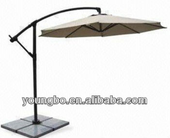 Deluxe table banana hanging umbrella patio parasol