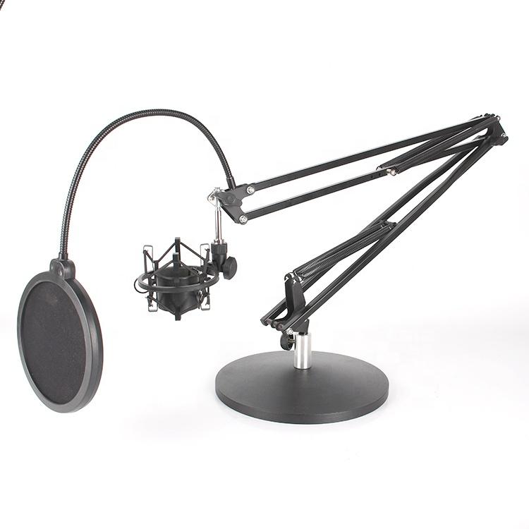 KOOLSOUND Tabletop Suspensão Scissor Braço Mic Microfone do Estúdio Estande de Montagem incluem Pop-Filtro & Anti-Vibração e Choque Mount