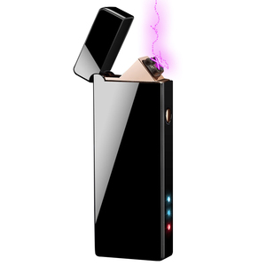 MLT168 Eco-friendly Dual Arc Electric Lighter Button Ignition Plasma Beam Smoking Lighter Rechargeable Tesla Cigarette Lighter