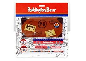 Paddington Bear Stationery Zipper Bag Set (6 stationery items including case)