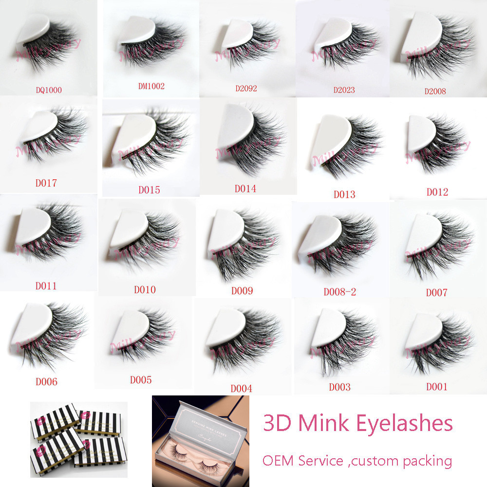 100 Real Mink Eyelash With Customized Packaging Box 100 Hand Made