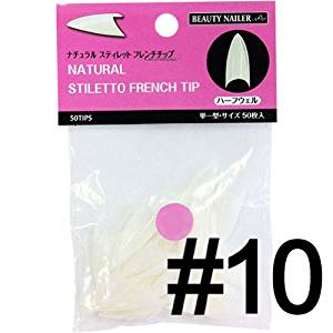 B. N. Natural Stiletto French chip # 10 PNSF-10 50P ? by size