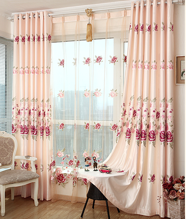 relief embroidered Sheer curtain,curtain material, crystal beaded door curtain