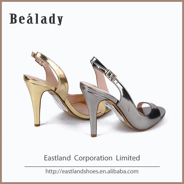 Latest fashion high heeled sandals ladies shoes