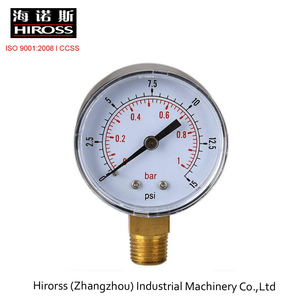 Low Pressure Gauge 50mm 0/15 PSI 0/1 Bar