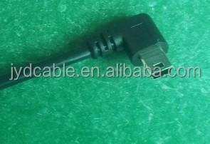 Shenzhen Shi cable manufacturer custom cable usb left angle black with high quality