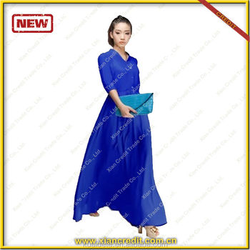 2014 Fashionable Dubai abaya / Black lady kaftan / women dress/ muslim clothing made in China