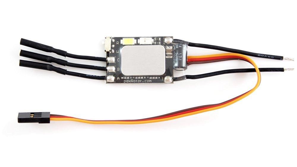 Portland Rotorworks ledESC - 20A ESC with integrated ultra-bright orientation LEDs (SimonK)