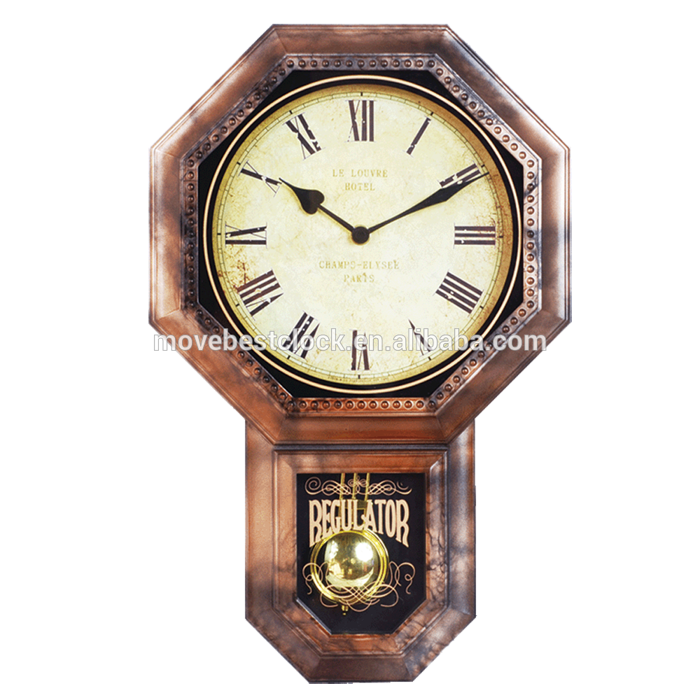 Relojes de pared antiguos de madera for Reloj de pared vintage 60cm