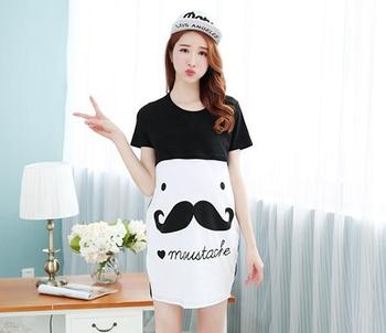 3052506b0 Wholesale best selling Maternity dress, summer short sleeve pregnant women  clothes, The moustache pregnant