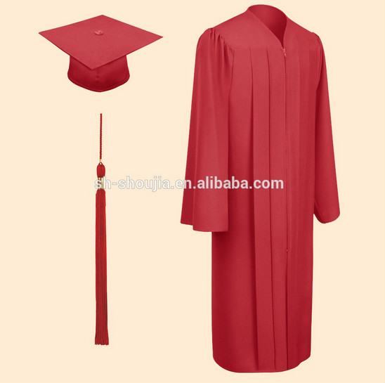 Customized Black Graduation Gowns With Cap & Hood - Buy Black ...