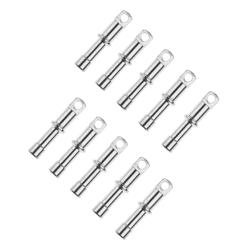 VGEBY 10Pcs Tent Pole End Plug Aluminium Alloy Rod End Plugs Tent Pole Replacement Accessory for Outdoor Camping Hiking