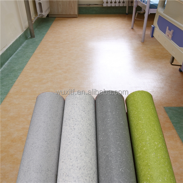 100% virgin indoor pvc homogeneous vinyl hospital flooring/roll/sheet price from china