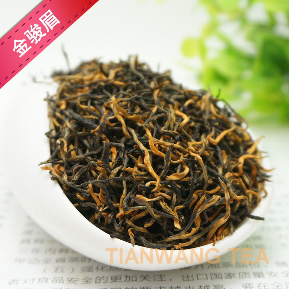 Wuyi high mountain best quality thin leaf black tea jinjunmei