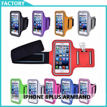 Sport Running Gym Fitness Armband Phone Case  Arm Band Phone Holder Cover Pouch for Iphone 6 plus