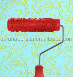 "7"" Decorative Art Roller Graining Painting Tool with Handle"