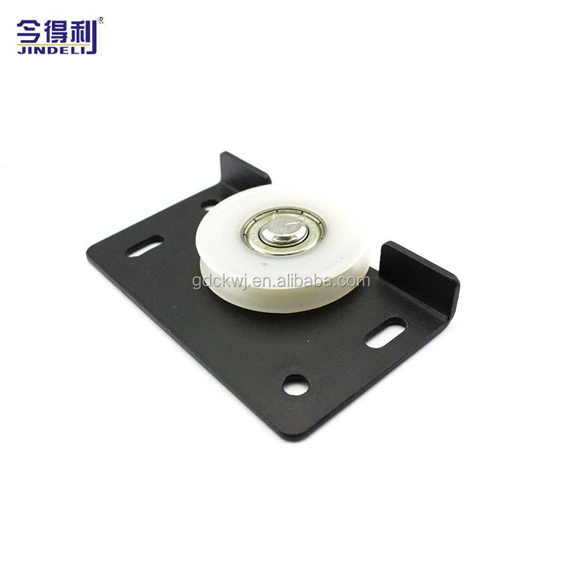D-174B Furniture Hardware Zinc Plate Soft Close Sliding Roller  Nylon Bearing Pulley Wheel